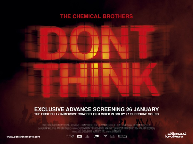 """The Chemical Brothers enjoy a night at the movies with """"Don't Think"""""""