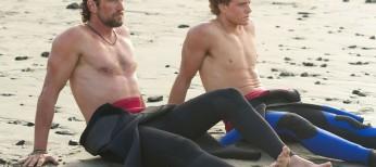 Gerard Butler Hangs Ten in 'Chasing Mavericks' – 3 Photos