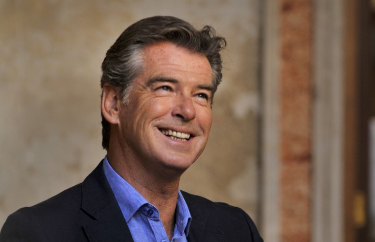 EXCLUSIVE: Pierce Brosnan Finds 'Love' in Italy