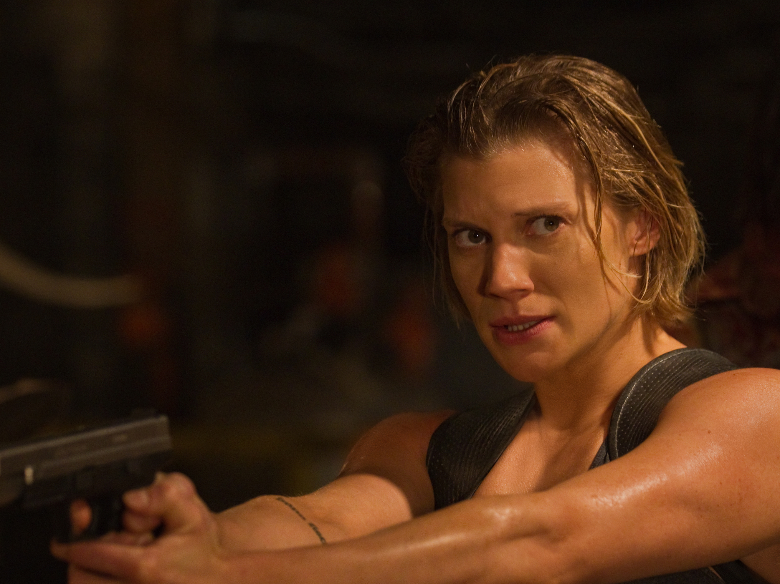 Katee Sackhoff Holds Her Own Against The Guys In 'Riddick