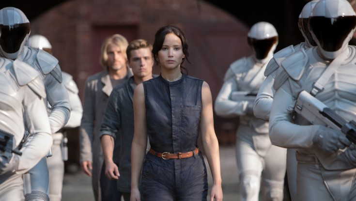 Jennifer Lawrence On Fire in 'Hunger Games' Sequel – 4 Photos