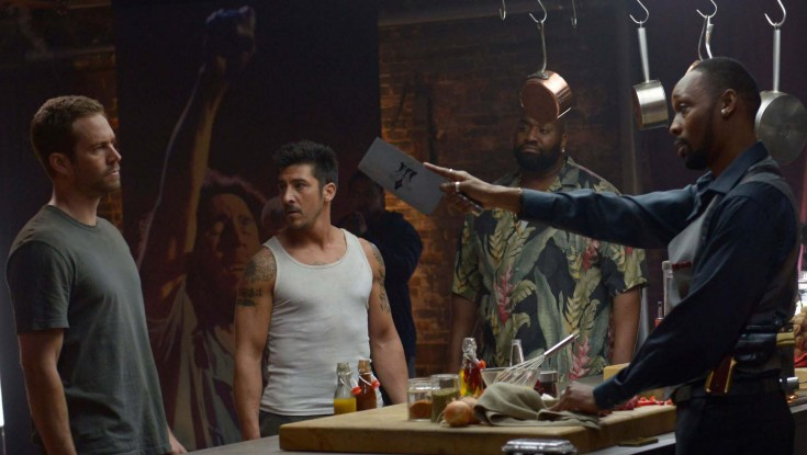 Rapper RZA Scales 'Brick Mansions' – 4 Photos