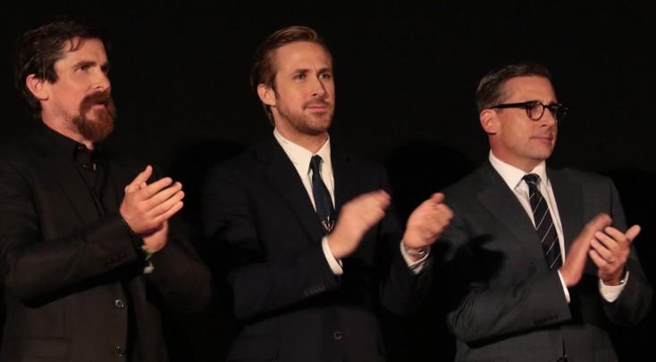Christian Bale, Steve Carell and Ryan Gosling Talk on 'The Big Short'