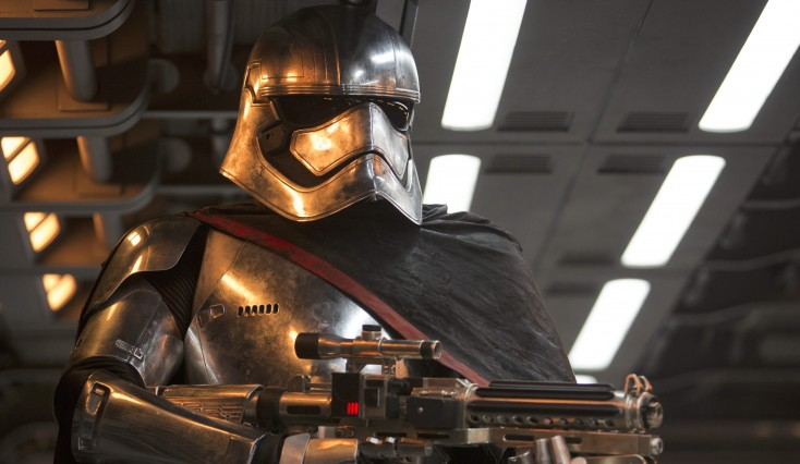 Gwendoline Christie Towers as Phasma in 'Star Wars: The Force Awakens'
