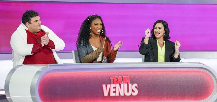 Photos: Tennis Champ Venus Williams Takes a Swing At Football Player Rob Gronkowski on 'Game On!' Game Show